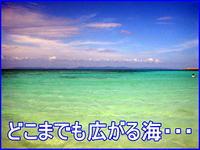 どこまでも広がる海・・・